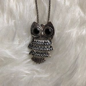"""Hootie"" Owl Pendant Necklace"